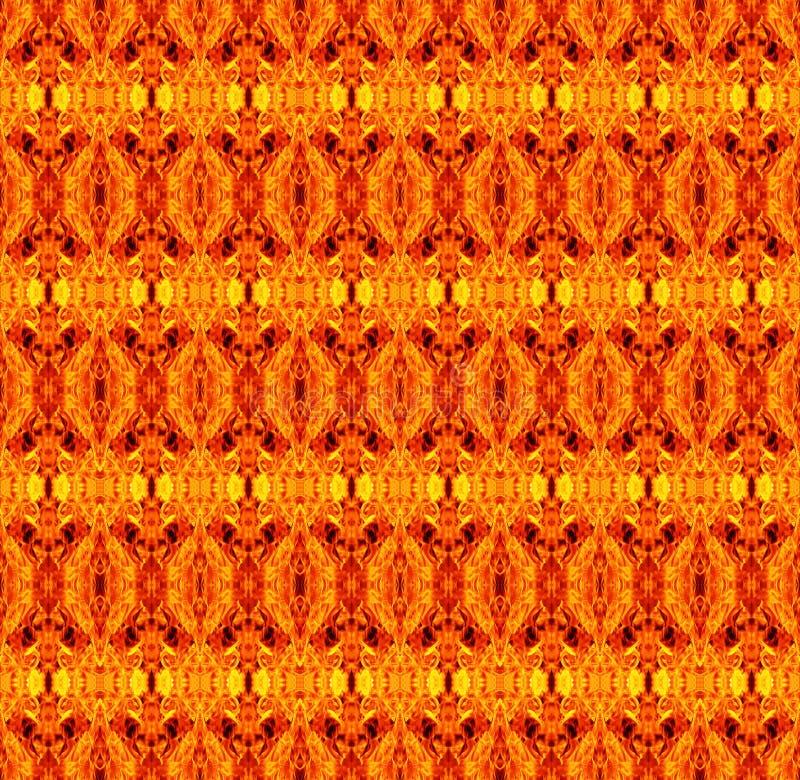 Αφηρημένο γεωμετρικό άνευ ραφής σχέδιο με κίτρινος, πορτοκαλής και κόκκινος ελεύθερη απεικόνιση δικαιώματος