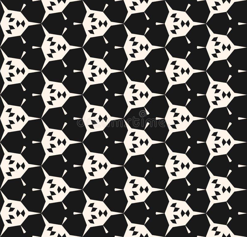 Αφηρημένο γεωμετρικό άνευ ραφής σχέδιο με τις γωνιακές μορφές, hexagons απεικόνιση αποθεμάτων