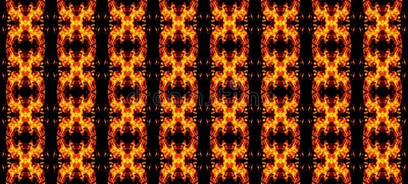 Αφηρημένο γεωμετρικό άνευ ραφής σχέδιο, πορτοκαλιά στοιχεία σε ένα BL ελεύθερη απεικόνιση δικαιώματος