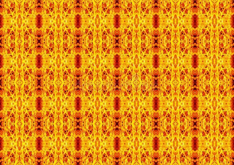 Αφηρημένο γεωμετρικό άνευ ραφής σχέδιο σε ένα ορθογώνιο κίτρινου, ή απεικόνιση αποθεμάτων