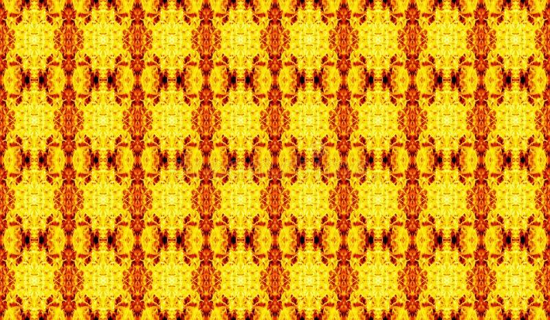 Αφηρημένο γεωμετρικό άνευ ραφής σχέδιο στο κίτρινος-κόκκινο tones_ διανυσματική απεικόνιση
