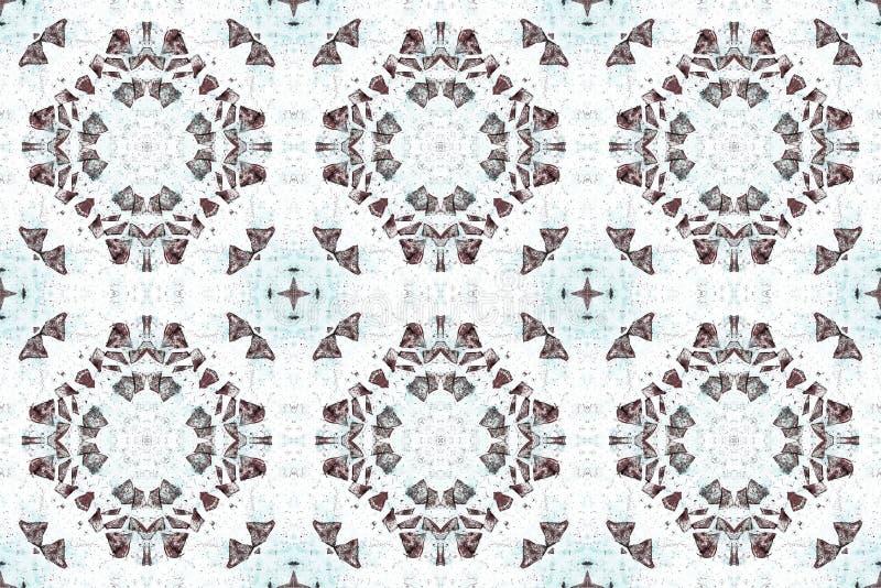 Αφηρημένο γεωμετρικό άνευ ραφής σχέδιο textil φαντασίας διακοσμητικό στο λευκό απεικόνιση αποθεμάτων