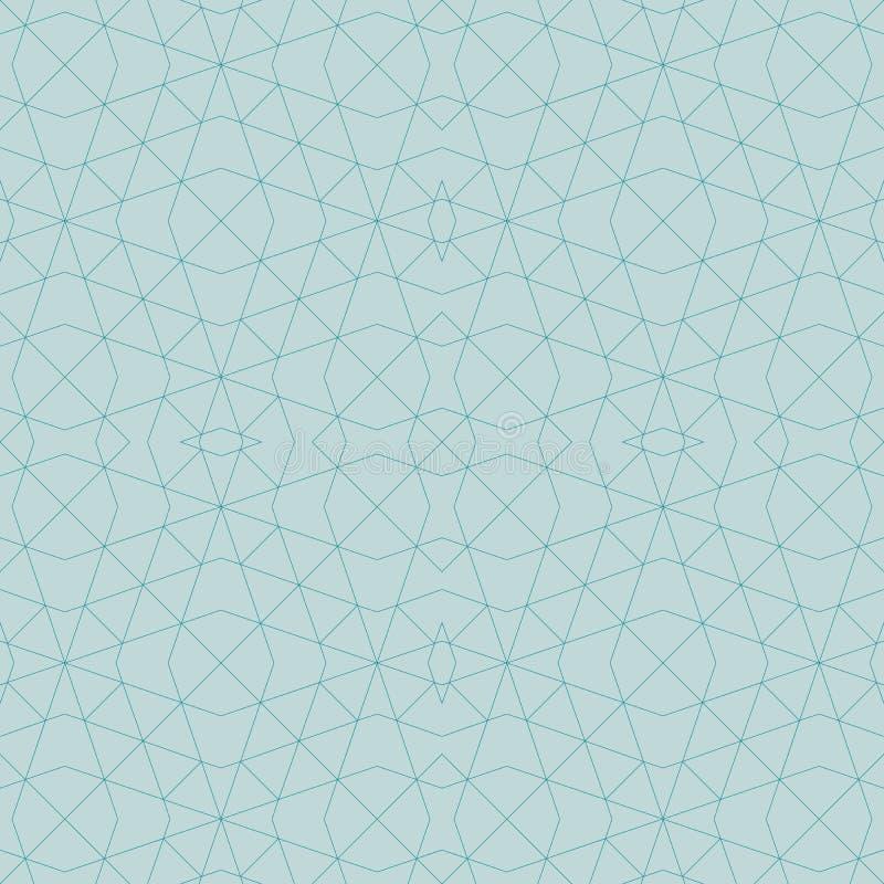 Αφηρημένο γεωμετρικό άνευ ραφής σχέδιο από τις γραμμές, διαμάντια Διάνυσμα ι διανυσματική απεικόνιση