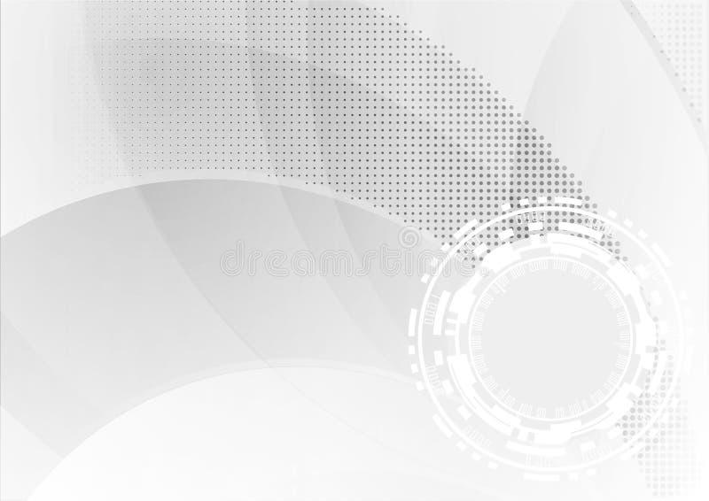 Αφηρημένο γεωμετρικό άσπρο και γκρίζο υπόβαθρο χρώματος με το διάστημα για το κείμενο επίσης corel σύρετε το διάνυσμα απεικόνισης ελεύθερη απεικόνιση δικαιώματος