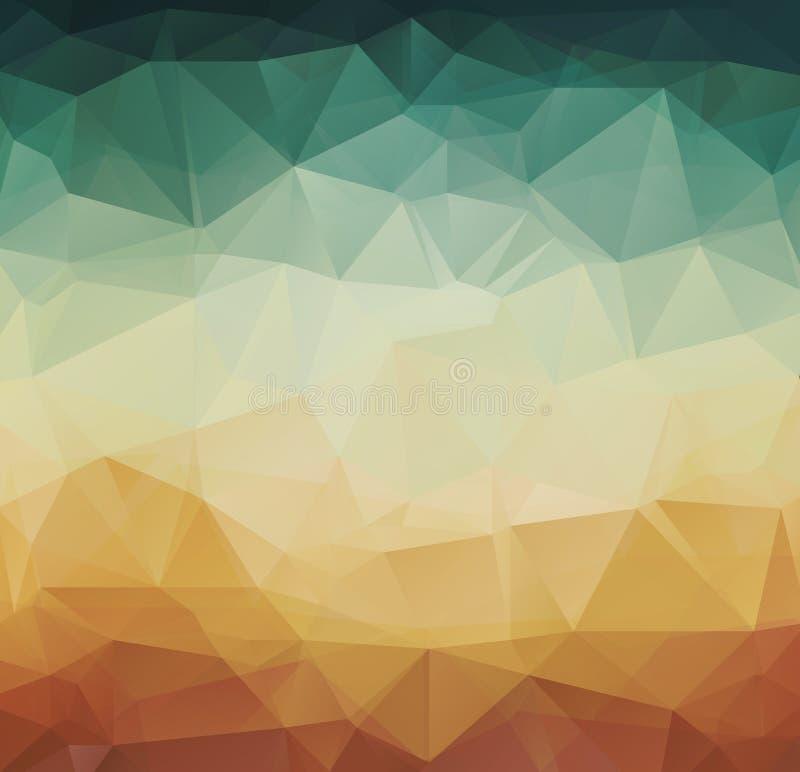 Αφηρημένο γεωμετρικό αναδρομικό υπόβαθρο σχεδίων διανυσματική απεικόνιση