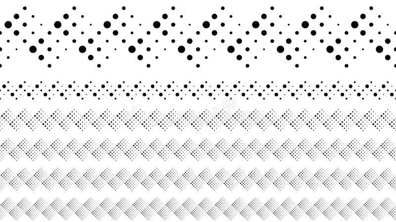Αφηρημένο γεωμετρικό διαστιγμένο σύνολο διαιρετών κειμένων σχεδίων ελεύθερη απεικόνιση δικαιώματος