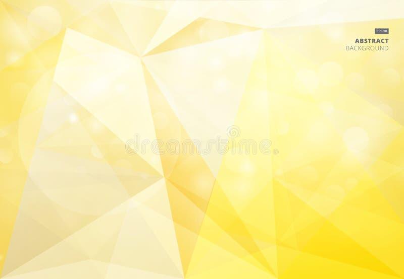 Αφηρημένο γεωμετρικό κίτρινο υπόβαθρο bokeh που θολώνεται για το σχέδιο απεικόνιση αποθεμάτων