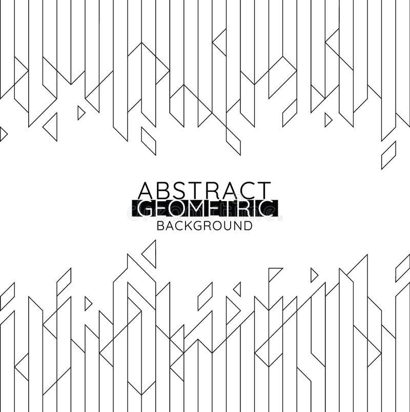 Αφηρημένο γεωμετρικό μαύρο υπόβαθρο γραμμών διανυσματική απεικόνιση