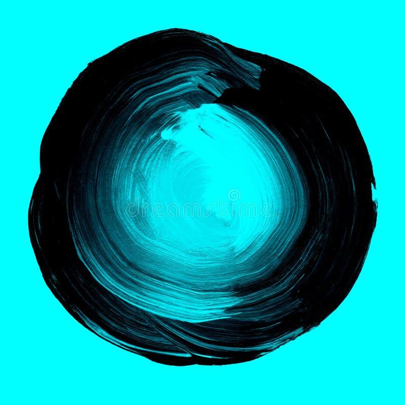 Αφηρημένο γεωμετρικό μπλε και μαύρο fractal διανυσματική απεικόνιση