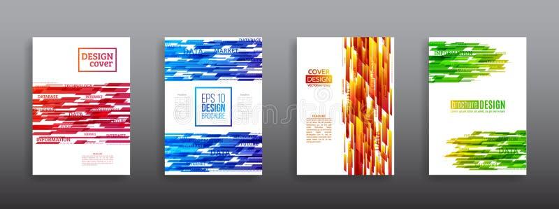 Αφηρημένο γεωμετρικό περιοδικό ιπτάμενων κάλυψης απεικόνιση αποθεμάτων
