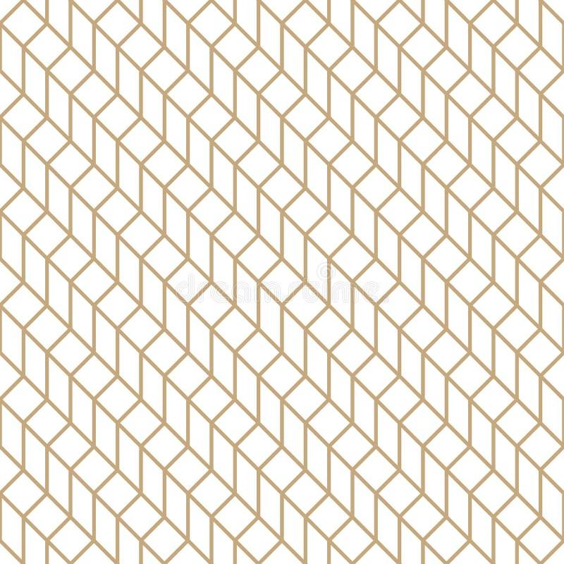 Αφηρημένο γεωμετρικό πλέγμα Χρυσό ελάχιστο γραφικό σχέδιο τυπωμένων υλών σχεδίου διανυσματική απεικόνιση