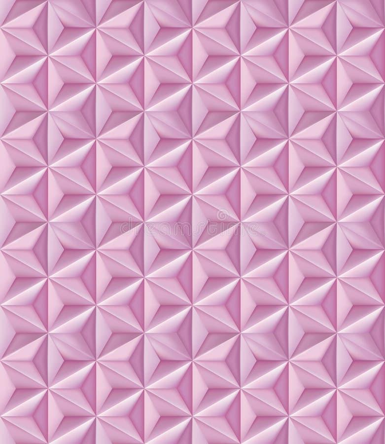 αφηρημένο γεωμετρικό πρότυπο Σχέδιο των ρόδινων τριγωνικών πολυγώνων ελεύθερη απεικόνιση δικαιώματος