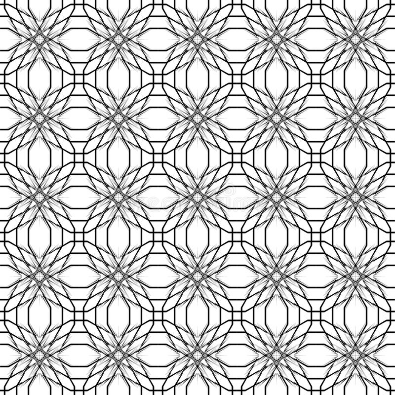 αφηρημένο γεωμετρικό πρότ&upsilon Γραπτό σχέδιο ύφους με τον κύκλο ελεύθερη απεικόνιση δικαιώματος