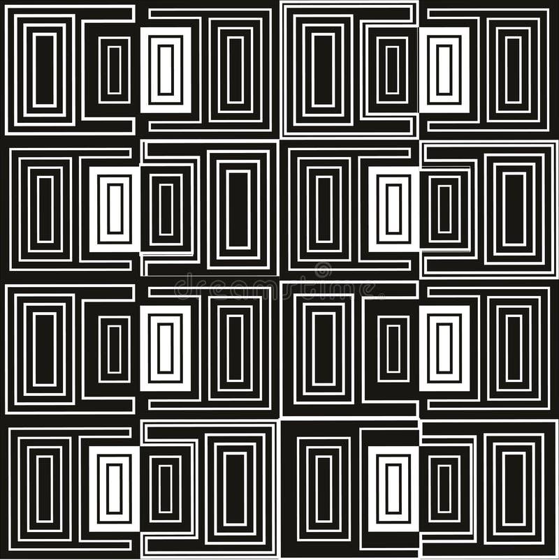 αφηρημένο γεωμετρικό πρότ&upsilon μαύρο λευκό προτύπων στοκ φωτογραφία