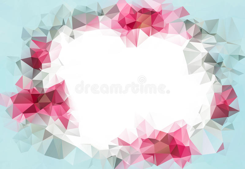 Αφηρημένο γεωμετρικό σκηνικό Σχέδιο για το πρότυπο επιχειρησιακού παρουσιάσεων ή Ιστού Ανοικτό ροζ υπόβαθρο βαλεντίνων ελεύθερη απεικόνιση δικαιώματος