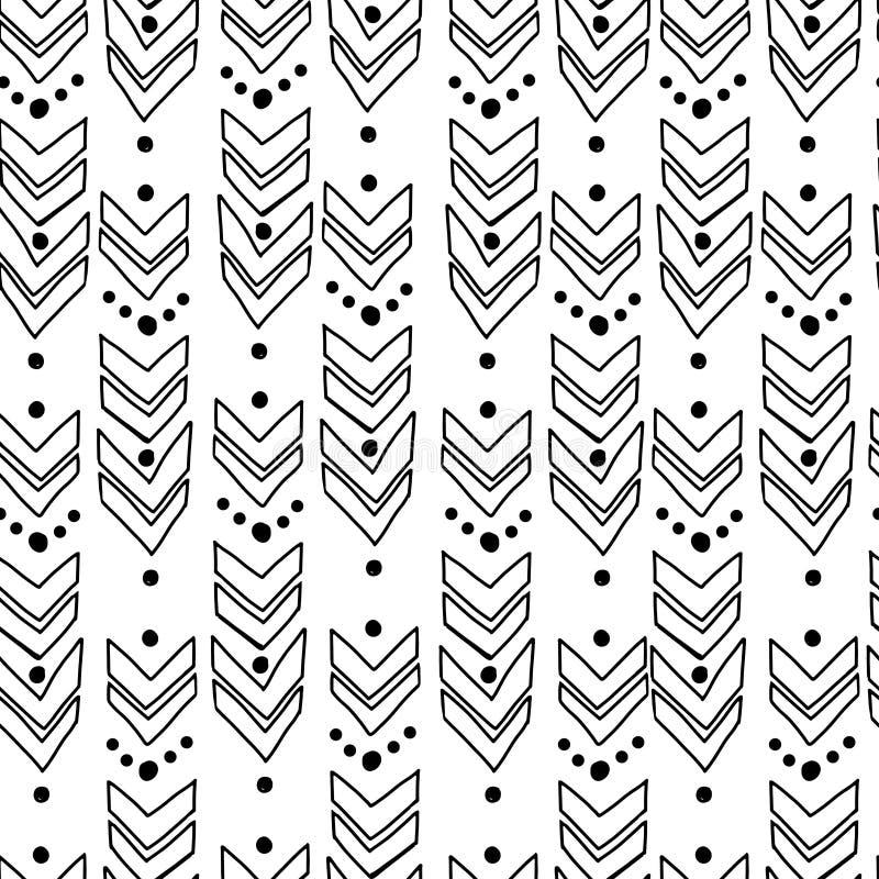 Αφηρημένο γεωμετρικό σχέδιο με τα βέλη διανυσματική απεικόνιση