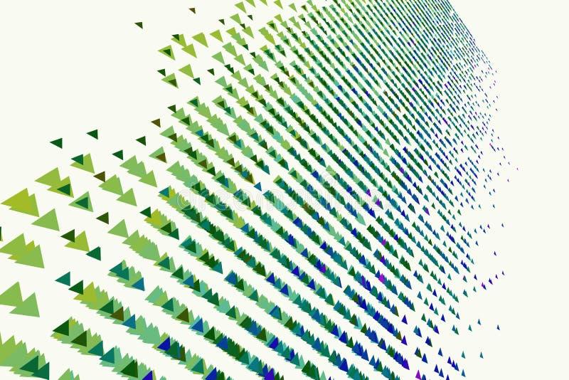Αφηρημένο γεωμετρικό σχέδιο τριγώνων, ζωηρόχρωμος & καλλιτεχνικός για το γραφικό σχέδιο, τον κατάλογο, το κλωστοϋφαντουργικό προϊ απεικόνιση αποθεμάτων