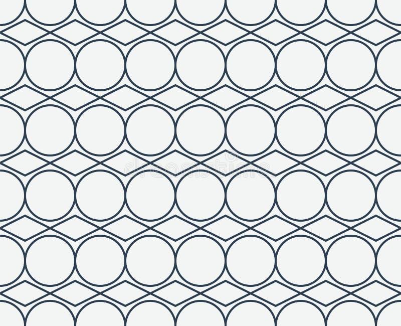 Αφηρημένο γεωμετρικό σχέδιο με τις γραμμικές μορφές Άνευ ραφής διανυσματικό β απεικόνιση αποθεμάτων