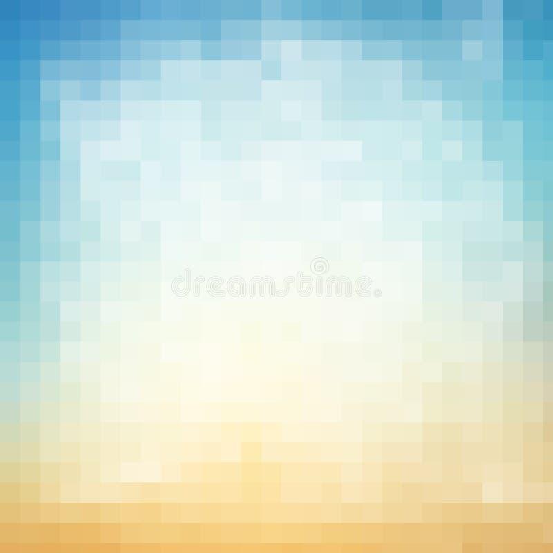 Αφηρημένο γεωμετρικό τετραγωνικό υπόβαθρο των εικονοκυττάρων στο χρώμα κλίσης διανυσματική απεικόνιση
