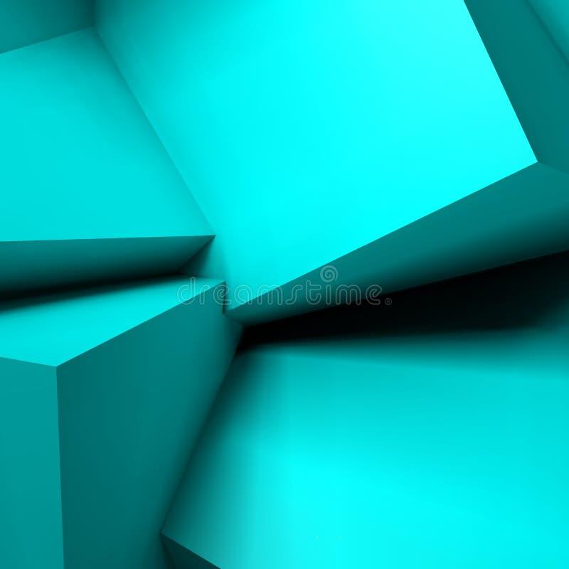 Αφηρημένο γεωμετρικό υπόβαθρο με τους επικαλύπτοντας κύβους ελεύθερη απεικόνιση δικαιώματος
