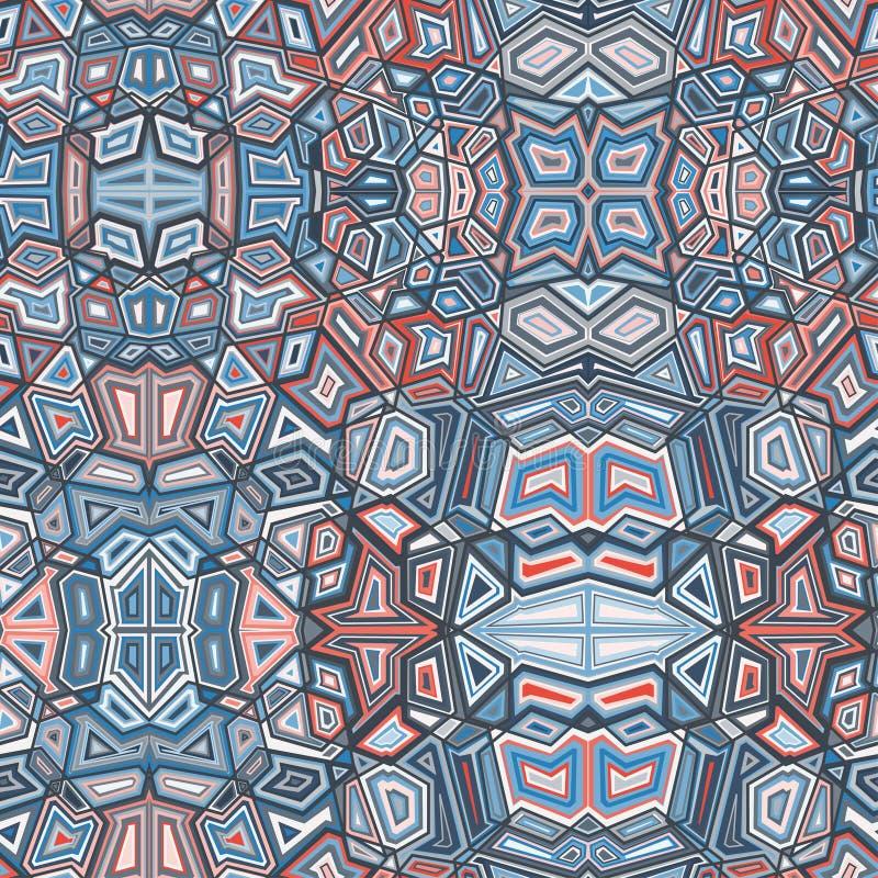 Αφηρημένο γεωμετρικό υπόβαθρο σχεδίων χρώματος απεικόνιση αποθεμάτων