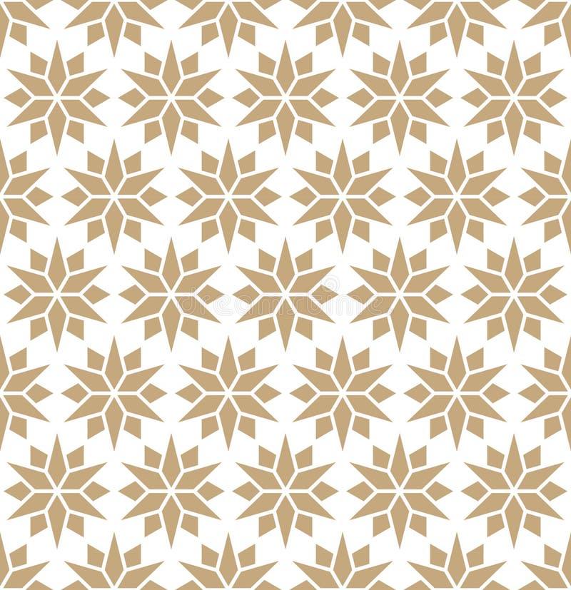 Αφηρημένο γεωμετρικό χρυσό σχέδιο αστεριών μαξιλαριών τέχνης deco διανυσματική απεικόνιση
