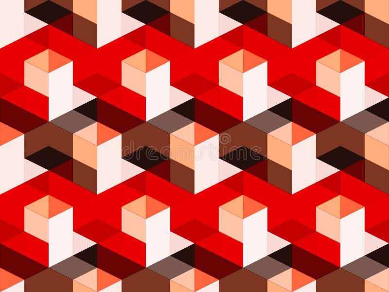 Αφηρημένο γεωμετρικό isometric διανυσματικό άνευ ραφής σχέδιο στοκ φωτογραφίες με δικαίωμα ελεύθερης χρήσης