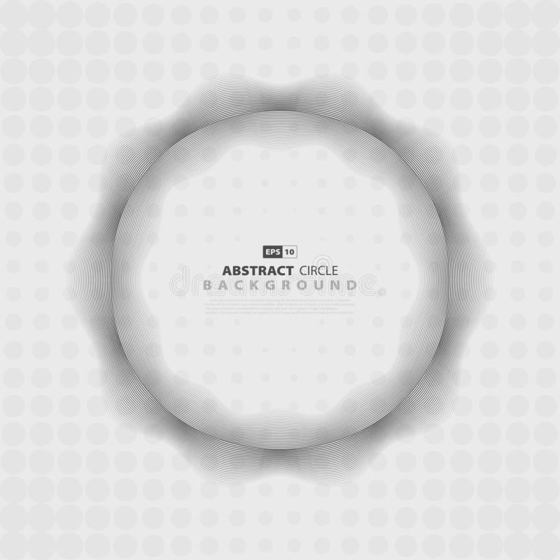 Αφηρημένο γκρίζο ημίτονο σχέδιο κύκλων σχεδίου κυματιστών σχεδίων r ελεύθερη απεικόνιση δικαιώματος