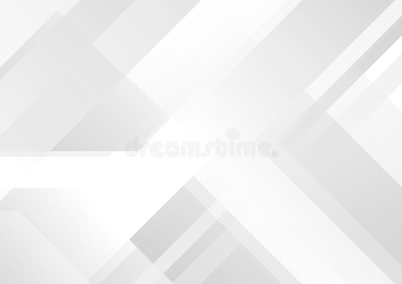 Αφηρημένο γκρίζο και άσπρο γεωμετρικό υπόβαθρο τεχνολογίας απεικόνιση αποθεμάτων