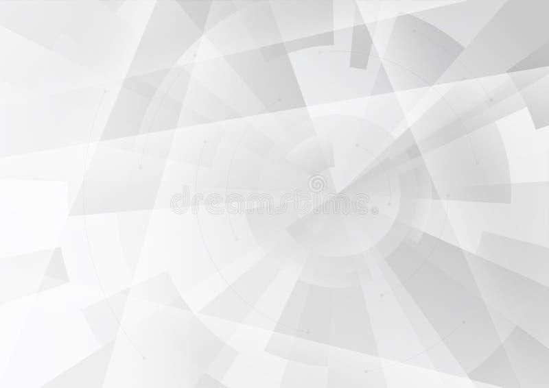 Αφηρημένο γκρίζο υπόβαθρο στο γεωμετρικό ύφος techno A4 μέγεθος απεικόνιση αποθεμάτων