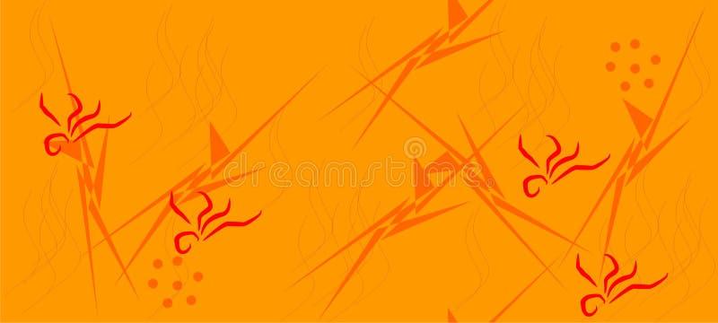 Αφηρημένο γραφικό σχέδιο στους θερμούς τόνους Διανυσματική απεικόνιση EPS ελεύθερη απεικόνιση δικαιώματος