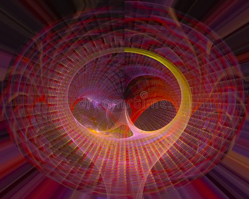 Αφηρημένο γραφικό fractal, διακοσμητική κίνηση, μελλοντικό σχέδιο φαντασίας ύφους λαμπρό, φλόγα, ροή ελεύθερη απεικόνιση δικαιώματος
