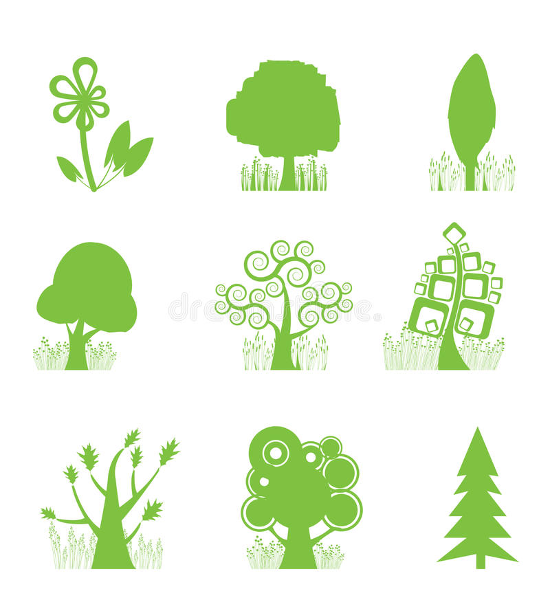 αφηρημένο δέντρο εικονιδί&om διανυσματική απεικόνιση