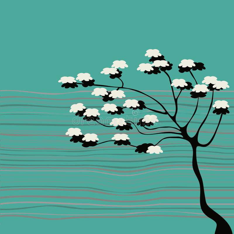 αφηρημένο δέντρο λουλου ελεύθερη απεικόνιση δικαιώματος