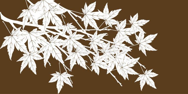 αφηρημένο δέντρο φύλλων φθινοπώρου ελεύθερη απεικόνιση δικαιώματος