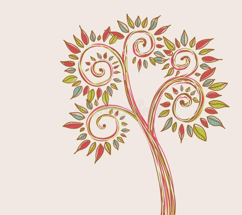 αφηρημένο δέντρο απεικόνιση αποθεμάτων