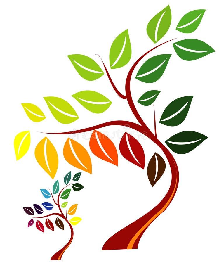 αφηρημένο διάνυσμα δέντρων διανυσματική απεικόνιση