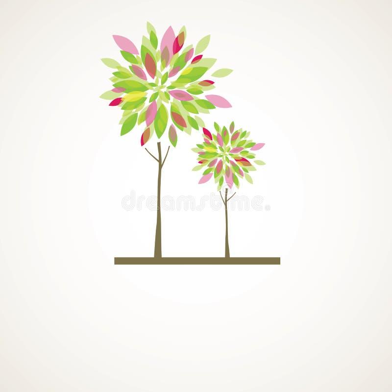 αφηρημένο διάνυσμα δέντρων &alp διανυσματική απεικόνιση