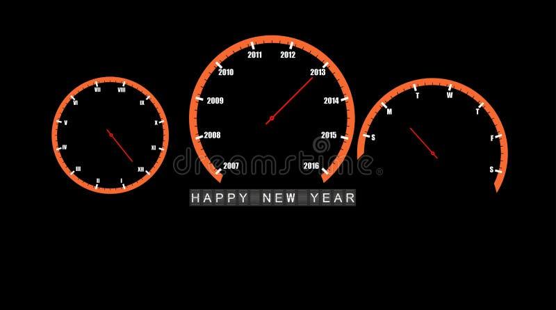 Αφηρημένο διάνυσμα καλής χρονιάς 2013 ρολογιών αυτοκινήτων ελεύθερη απεικόνιση δικαιώματος