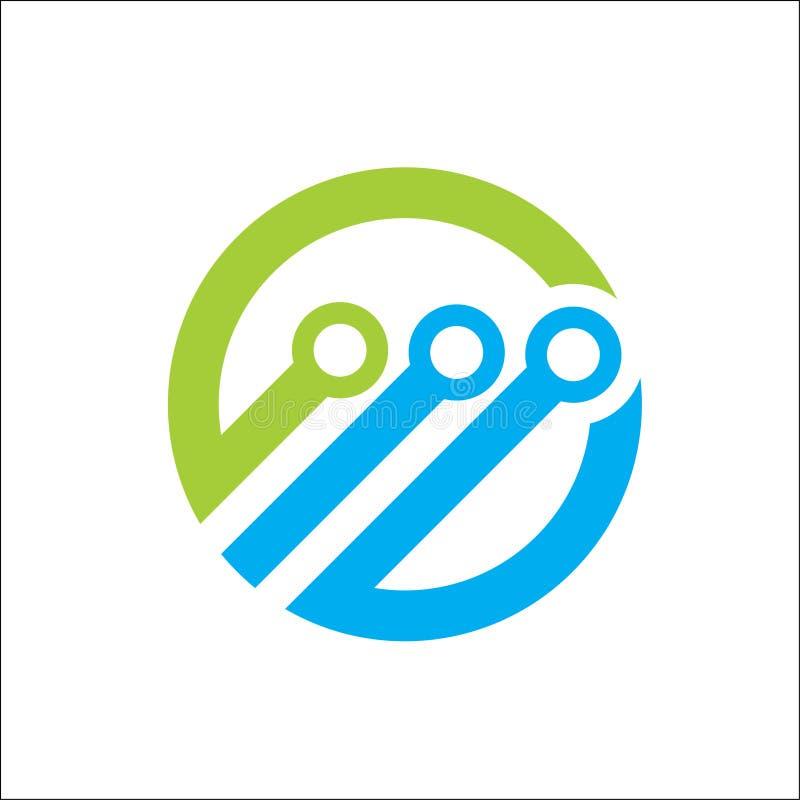 Αφηρημένο διάνυσμα κύκλων λογότυπων τεχνολογίας διανυσματική απεικόνιση