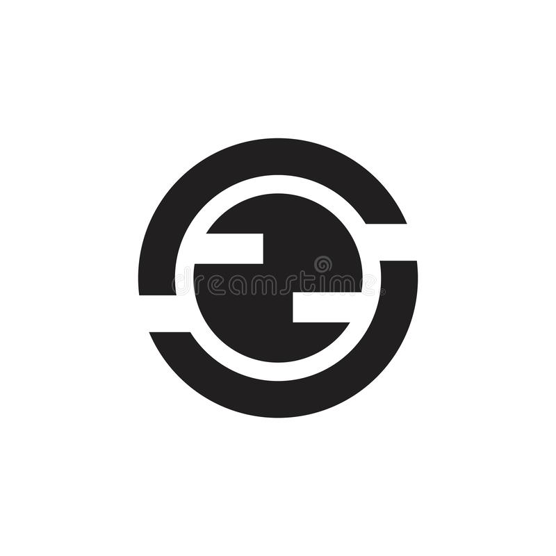 Αφηρημένο διάνυσμα λογότυπων έννοιας κύκλων γεωμετρικό σφαιρικό διανυσματική απεικόνιση