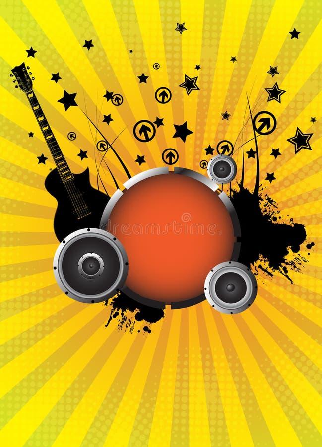 αφηρημένο διάνυσμα μουσικής απεικόνισης ανασκόπησης διανυσματική απεικόνιση