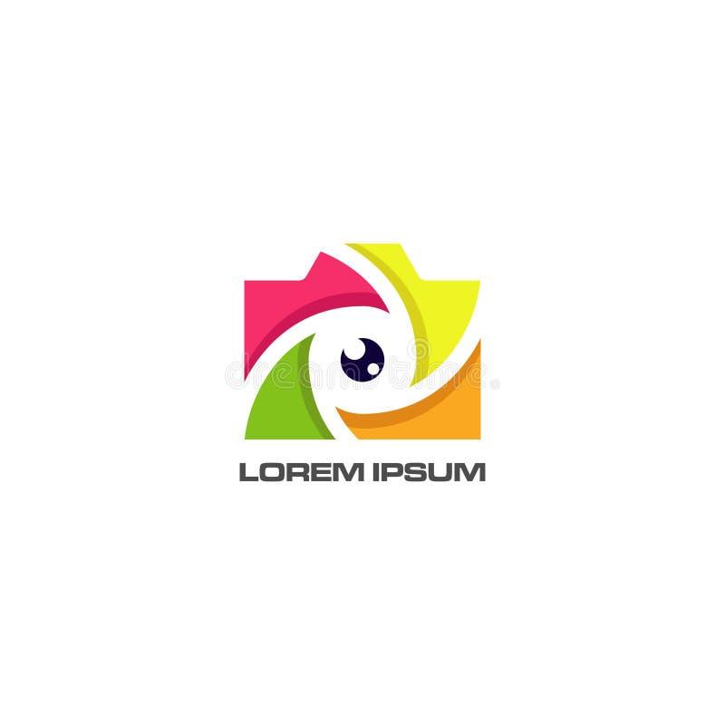 Αφηρημένο διάνυσμα σχεδίου λογότυπων ματιών καμερών απεικόνιση αποθεμάτων