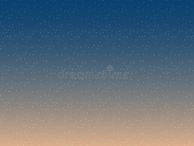 Διάνυσμα υποβάθρου αστεριών Άνευ ραφής σχέδιο νυχτερινού ουρανού Αφηρημένο διάστημα κόσμου ελεύθερη απεικόνιση δικαιώματος