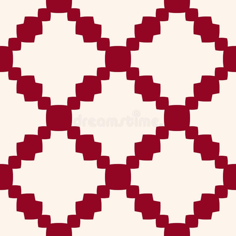 Αφηρημένο διανυσματικό γεωμετρικό άνευ ραφής σχέδιο με το πλέγμα, αλυσίδες, πλέγμα, καθαρό, δικτυωτό πλέγμα ελεύθερη απεικόνιση δικαιώματος