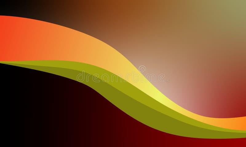 Αφηρημένο διανυσματικό ζωηρόχρωμο υπόβαθρο κυμάτων με τα φωτεινά χρώματα που σκιάζουν το διανυσματικό υπόβαθρο απεικόνισης διανυσματική απεικόνιση