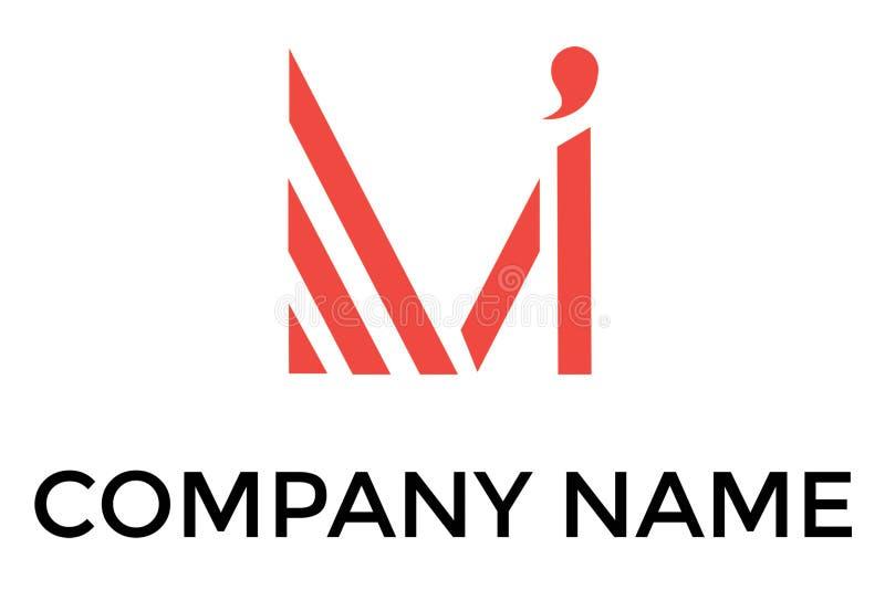 Αφηρημένο διανυσματικό λογότυπο με το γράμμα Μ διανυσματική απεικόνιση