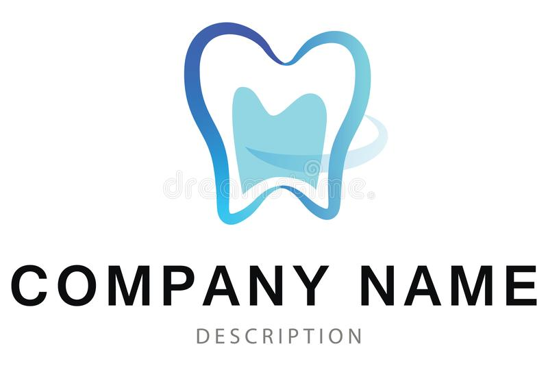 Αφηρημένο διανυσματικό λογότυπο του δοντιού διανυσματική απεικόνιση