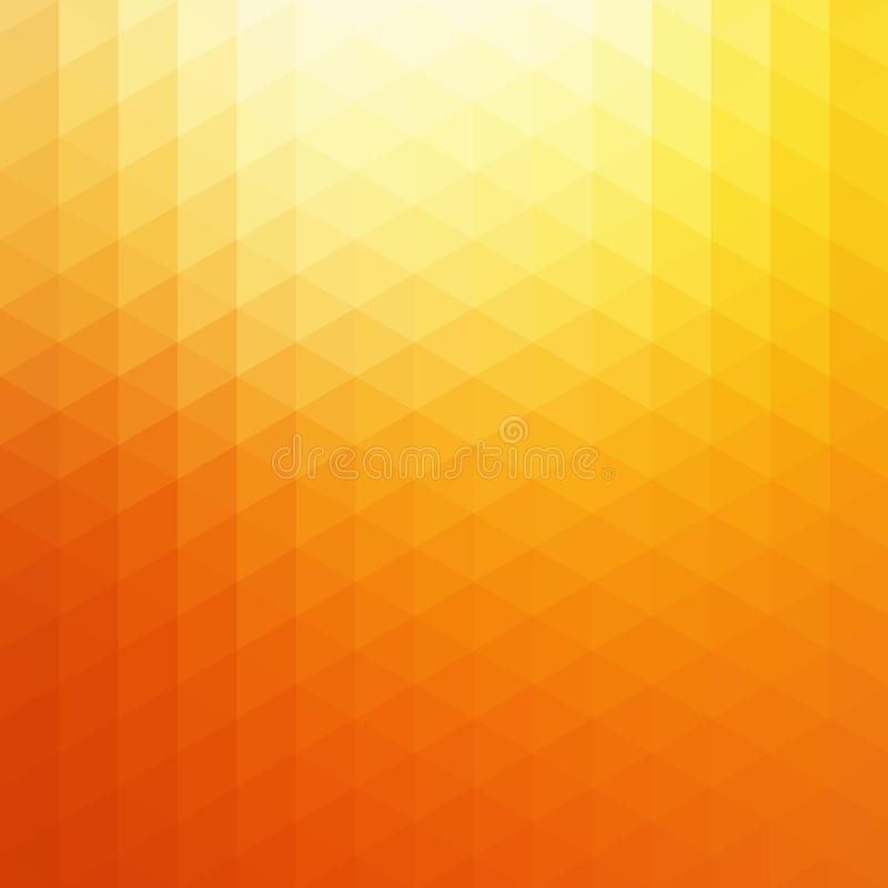 Αφηρημένο διανυσματικό πορτοκαλί υπόβαθρο τριγώνων φωτός του ήλιου Ηλιόλουστη κίτρινη γεωμετρική καμμένος απεικόνιση σκηνικού ελεύθερη απεικόνιση δικαιώματος