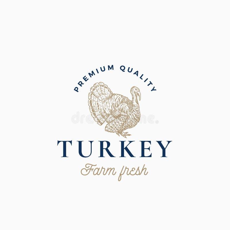 Αφηρημένο διανυσματικό σημάδι της αγροτικής Τουρκίας, σύμβολο ή πρότυπο λογότυπων Συρμένο χέρι σκίτσο της Τουρκίας Sillhouette με απεικόνιση αποθεμάτων